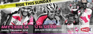 Amy's Ride SA 2014 homepage banner