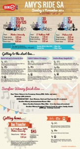 Amy's Ride SA 2014 - Infographics